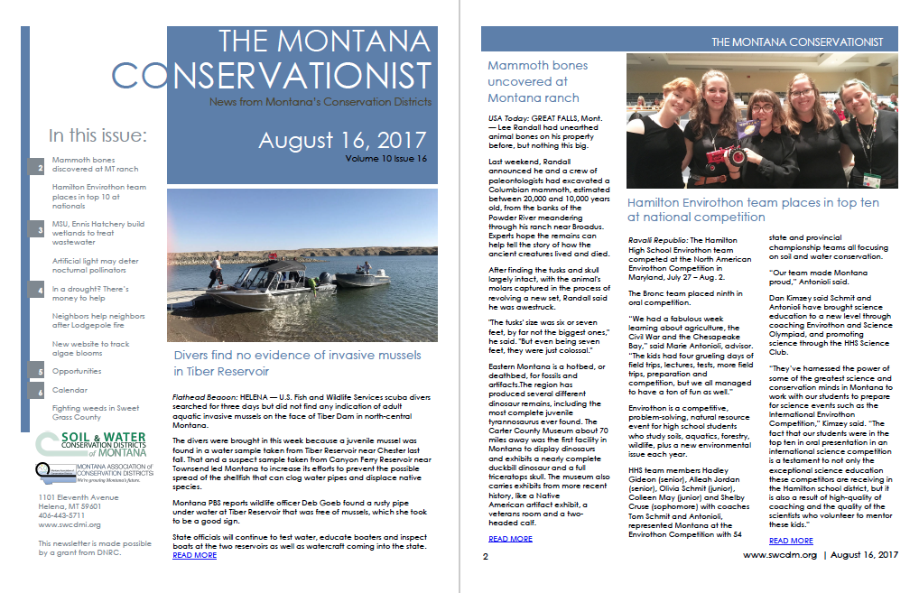 The Montana Conservationist August 16