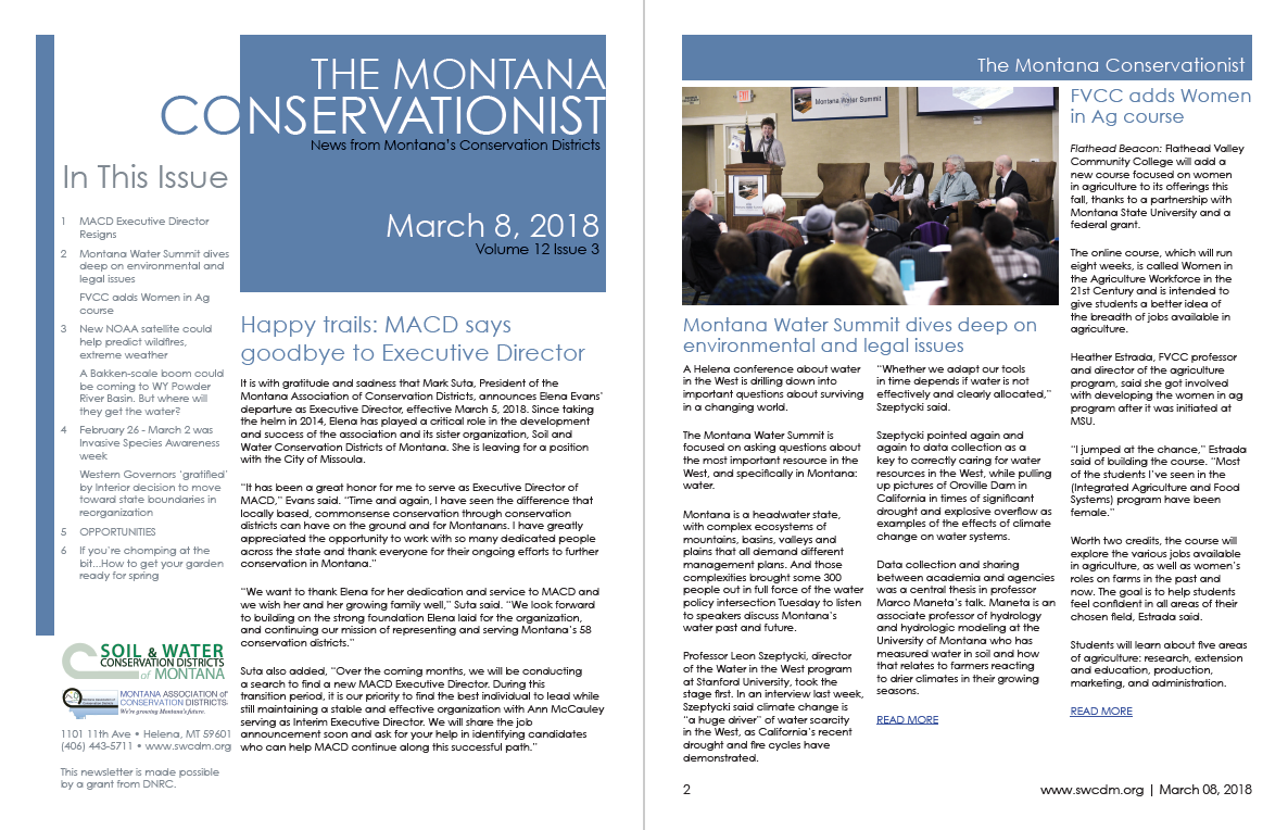 The Montana Conservationist March 8