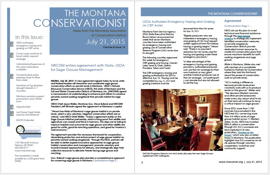 The Montana Conservationist, July 21