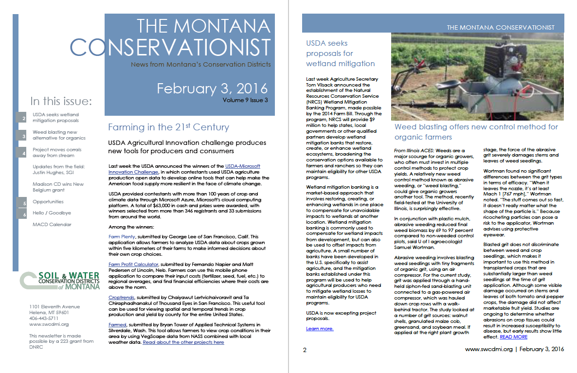 The Montana Conservationist, February 3