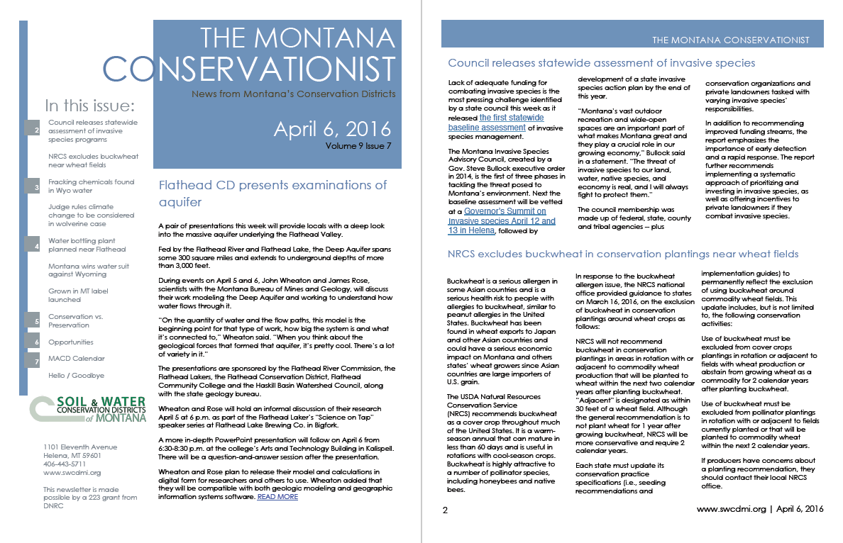 The Montana Conservationist April 6
