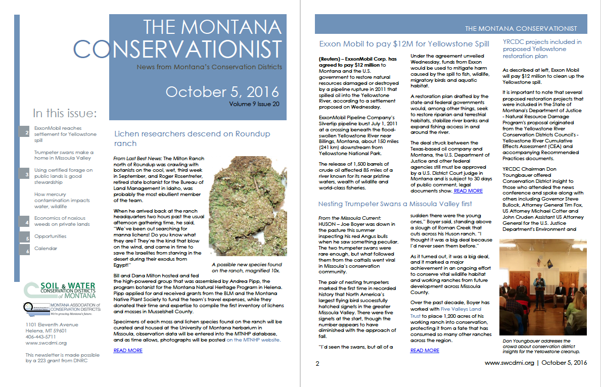 The Montana Conservationist October 5